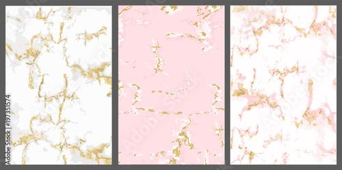 Window Murals Vector Marble With Pink Gold Background White Rose With Golden Crack Backdrop For Invite Card Trendy Cover Invitation Girl Baby Shower Princess Party Luxury Wedding Cute Textured Wallpaper
